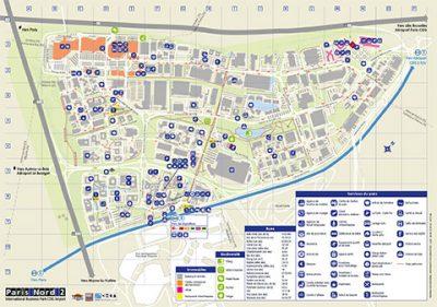Paris Nord 2 - Plan du Parc